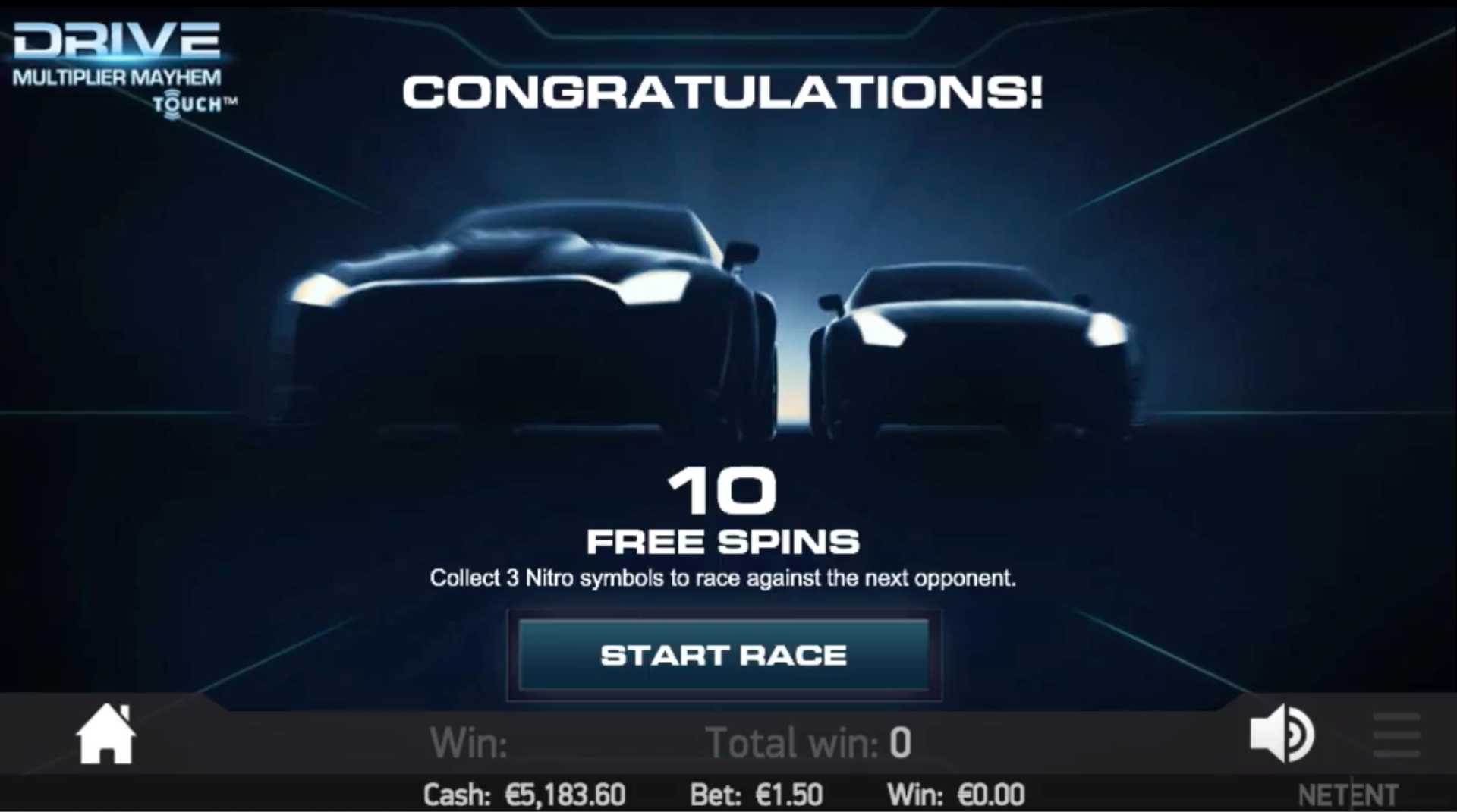 Drive touch - 10 Free Spins