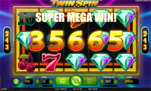 Super Mega Win on the Twin Spin video slot