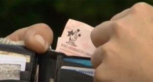 EuroMillions Ticket in Wallet
