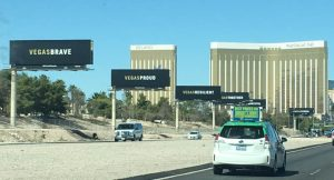Las Vegas billboards after the attack
