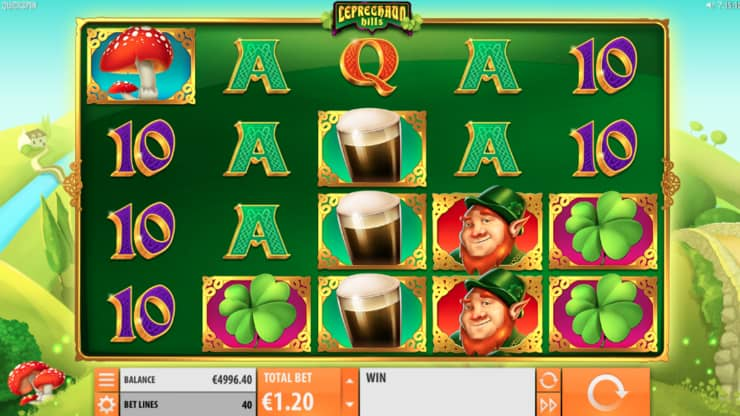 leprechaun hills video slot