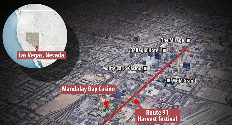Vegas Attack - Map of the Strip