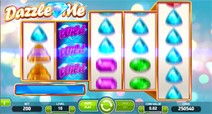 Dazzling Wild Reels on the Dazzle Me video Slot