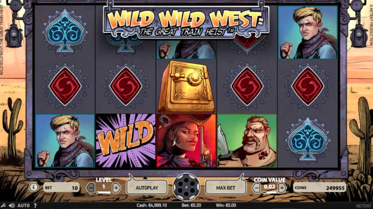 wild wild west: the great train heist video slot